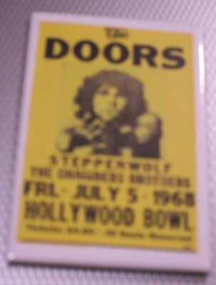 "The Doors Steppenwolf Hollywood Bowl July 5 1968 Concert Magnet 2""x3"" New"