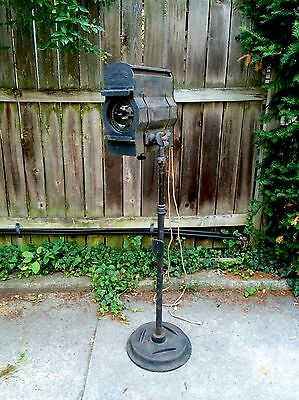 Large Antique Vintage 1920's Stage Light Kliegl Bros Brothers New York Steampunk