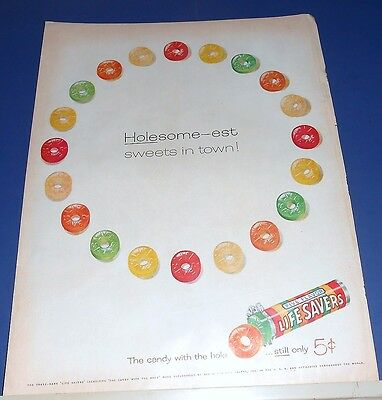 1955 Life Savers candy Ad ~ Holesome-est sweets in town!