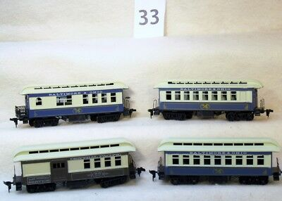 Aset Of Four Athearn Baltimore & Ohio Old Time Passenger Cars-No Reserve
