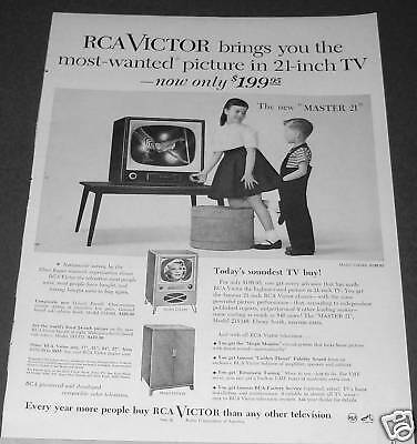 1954 RCA Victor Model 21S348 Table Television Ad
