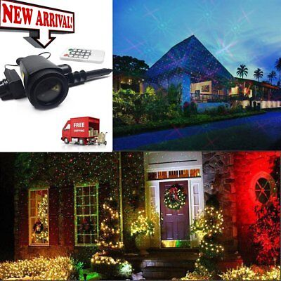 Outdoor Xmas Moving LED Laser Projector Landscape Decor Spot Light Lawn Lamp XR