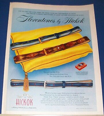 1953 Hickok belts Ad Florence Italy 15th Century