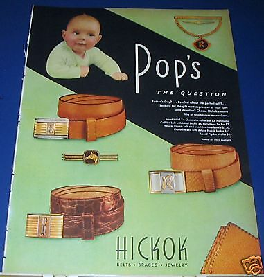 1946 Hickok Belts for POP Ad Father's Day BABY