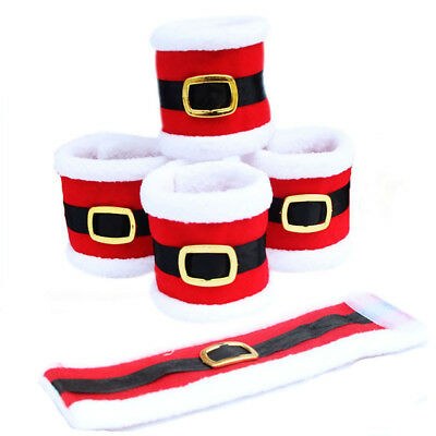 4Pcs/Lot Christmas Napkin Rings Napkin Holder Party Banquet Dinner Table Decor