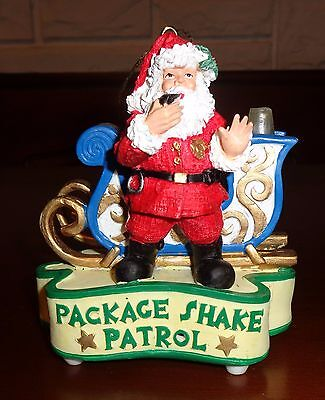 Lights & Sirens When You Shake this Santa & Sleigh Ornament-With On/Off Switch