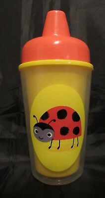 Reborn Toddler baby Fake Milk yellow and red sippy cup with a ladybug Photo prop