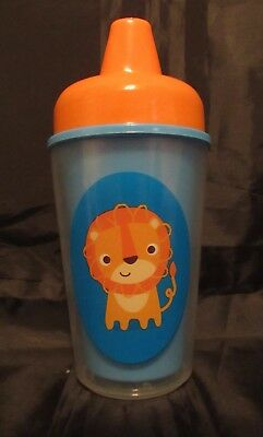 Reborn Toddler baby Fake Milk blue and orange sippy cup with a tiger Photo prop
