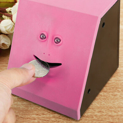 Funny Sensor Saving Bank Face Eating Money Coin Box Bank For Kids Gifts