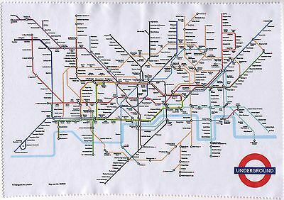 TUBE MAP Spectacle Lens Cleaning CLOTH With London Underground Design Glasses
