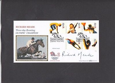 1996 Olympic Games Benham FDC signed by Richard Meade