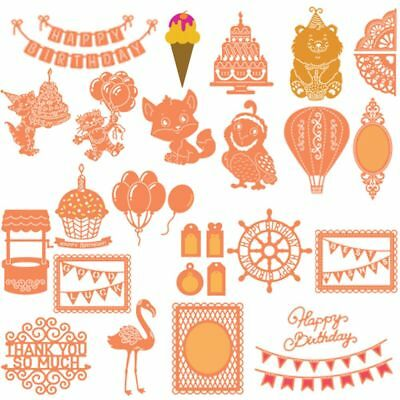 Christmas Flamingos Cutting Dies Stencils Scrapbooking DIY Crafts Cards Decor
