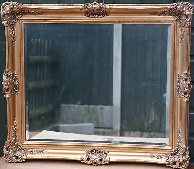 Great Quality Looking Large Ornate Gilt Framed Bevel Edged Wall Mirror