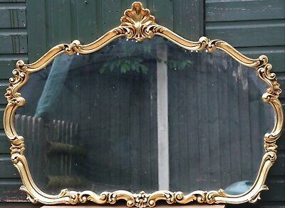 Very Large Fancy Shaped And Ornate Looking Gilt Framed Wall Mirror