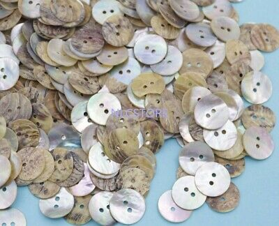 100pcs 15mm coin button shell clasp natural sea mother of pearl 1.5mm hole