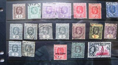 Unchecked Selection Of George V. Fiji Stamps