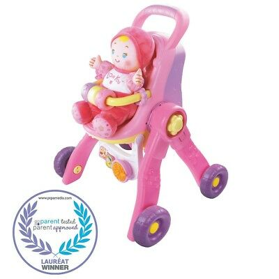 Vtech - Baby Amaze - 3-in-1 Care & Learn Doll Stroller - English Edition