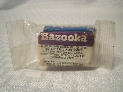 Bazooka Bubble Gum 2 Pieces Sealed  1988 Grape and Original