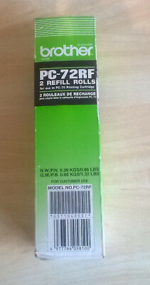Brother PC-72RF 2 refill rolls for use in PC-70 printing cartridge