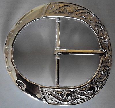 """Solid Sterling Silver """"The Ritz""""  Belt Buckle"""