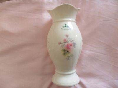 "Donegal Parian China 7 1/4"" Mourne Rose Vase - - #71501"