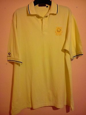 Wigtown And Bladnoch Golf Club Light Yellow Polo Shirt Glenmuir Size L Vgc