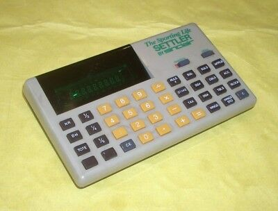 Rare Sinclair ' Sporting Life ' Settler. Betting Shop Calculator.