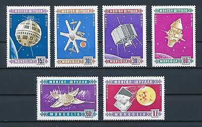 Mongolia   441-6 MNH, 1966 Space Issue