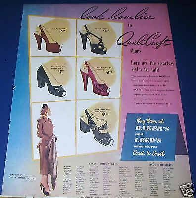 1947 Ladies' QauliCraft High-Heel Shoes Ad