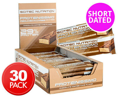 30 x Scitec Proteinissimo Low Carb Bars Choc Coffee Cake 30g
