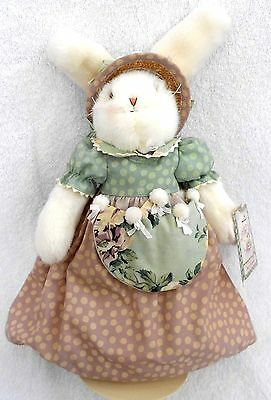 "14"" - Bunnies By The Bay Hallmark rabbit and stand  NEW"