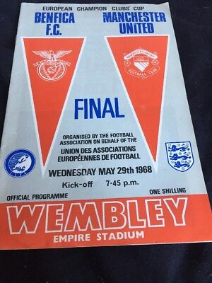 Benfica V Manchester United 29th May 1968 European Cup Final