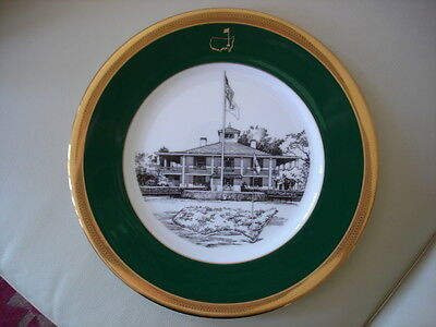 """Scarce MINT 1997 MASTERS """"Lenox"""" PLATE #12 Augusta National GC TIGER WOODS WINS"""
