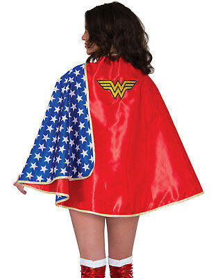 Adult Womens Wonder Woman Deluxe Satin Lined Dawn Of Justice Cape