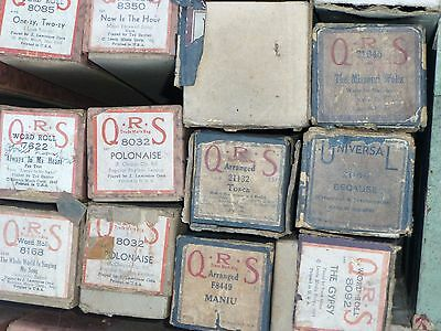 7 VINTAGE QRS PLAYER PIANO ROLLS Assorted - Music Nickelodeon