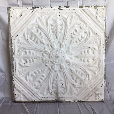 "1890's 24"" x 24"" Antique Reclaimed Tin Ceiling Tile Stone 494-17 Anniversary"