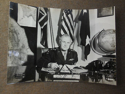 Vintage WW II US Army Lt General John C H Lee Signed B/W Photograph