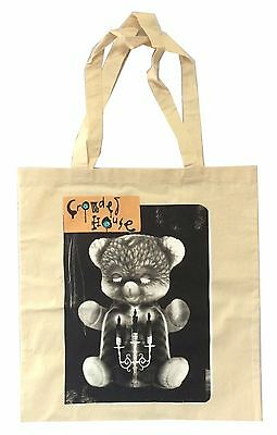 Crowded House Bear Intriguer Album Image Tan Tote Bag New Official Band Merch