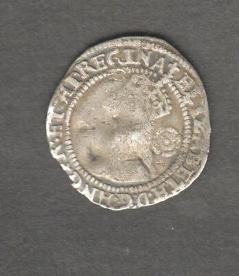 Elizabeth 1St 1580 Hammered Three Pence Silver Good Bust. Auction Starts At £1