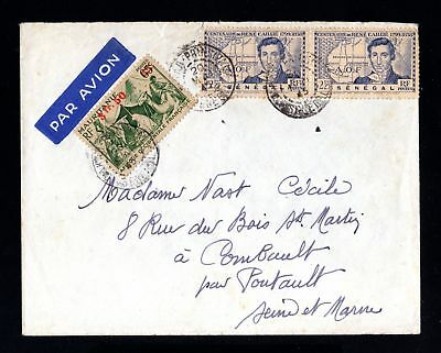 15374-SENEGAL-AIRMAIL COVER DAKAR to COMBAULT(france)1945.WWII.French colonies.