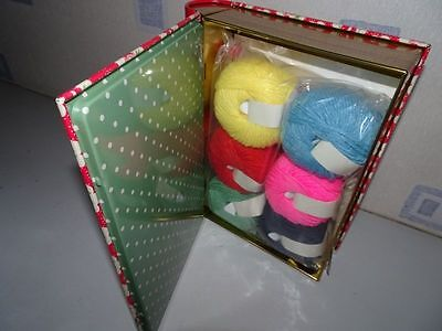 HTF UNIQUE Complete Cath Kidston Knitting Gift Set in Tin Book Box GREAT VALUE