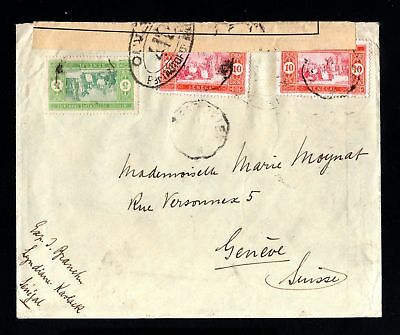 16676-SENEGAL-CENSOR COVER KAOLACK to GENEVA (suisse)1917.WWI.French colonies.