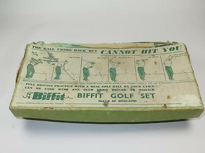 """VINTAGE BIFFIT GOLF SET 1930s """"The Ball Comes Back but Cannot Hit You"""""""