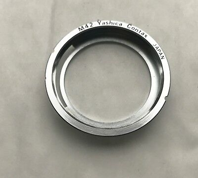 Yashica / Contax Camera bayonet Adapter to Pentax M42 lens