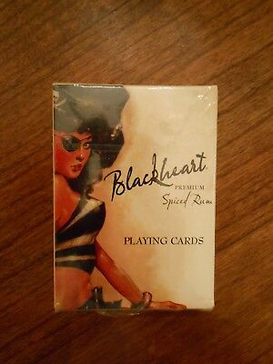 Blackheart premium spiced rum limited edition playing cards sealed new!