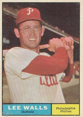 Topps 1961 #78 Lee Walls-Philadelphia Phillies