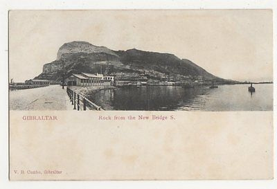 Gibraltar, Rock from The New Bridge S., Early UB Postcard, B192