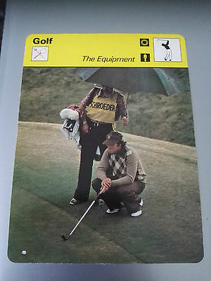 GOLF - THE EQUIPMENT - Sportscaster Photo Fact Card