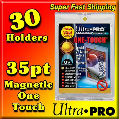 30 Ultra Pro 35 Pt Magnetic Gold 1 One Touch Baseball Card Holders 81575-Uv-30