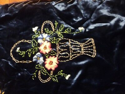 antique vintage crazy quilt top w embroidery tablecloth or crafts?